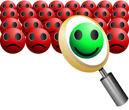 headhunter: search Employee Icon for Recruitment Agency Magnifier Illustration