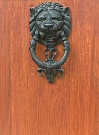 doorknocker: Door Knocker Lion Head architect detail Stock Photo