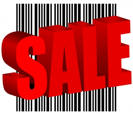 sale bar code barcode illustration Vector