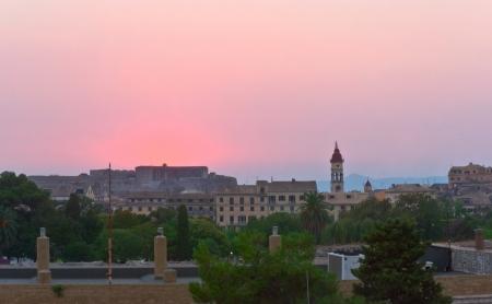 kerkyra: kerkyra corfu town greece sunset dusk