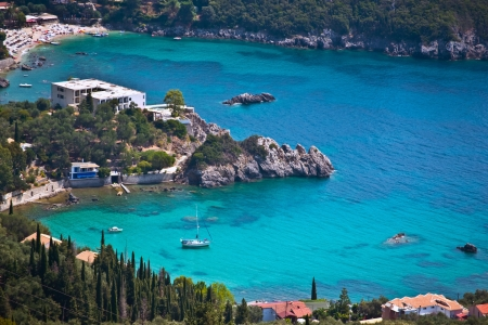 corfu: Coast of the Greek Island corfu paleokastritsa bay