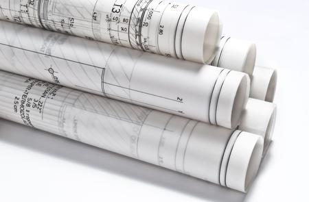 建築図面のプロジェクト設計書 写真素材