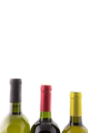 aligote: wine bottles isolated on white background