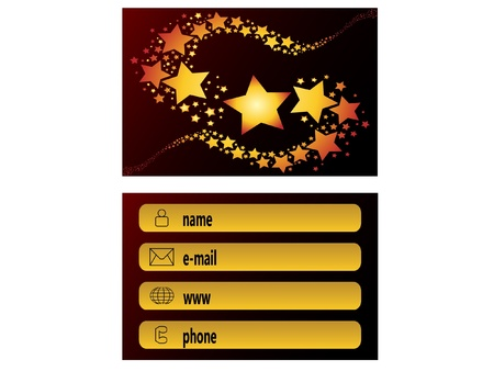 abstract creative business cards shooting star comet Vector