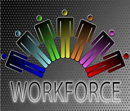 work force: work force work force team vector illustration