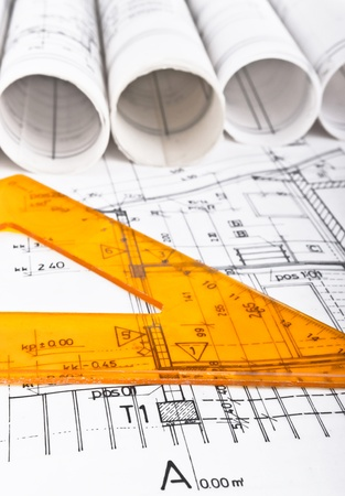 건축 프로젝트 청사진 스톡 콘텐츠