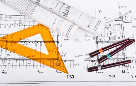 architect tools: Architect rolls and plans