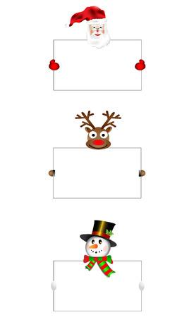 nariz roja: Nariz roja de Santa mu�eco de nieve con la bandera listo para ilustraci�n lorem ipsum inscripci�n vector