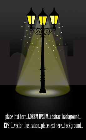 Streetlight lantern at Night vector illustration Vector
