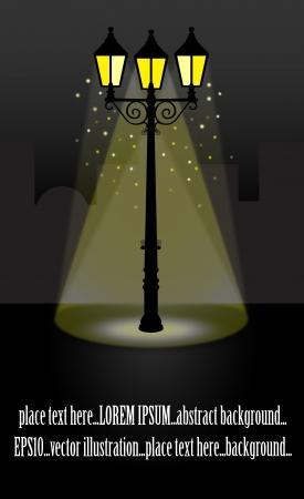 streetlight: Streetlight lantern at Night vector illustration