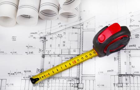 Architect project drawing Standard-Bild