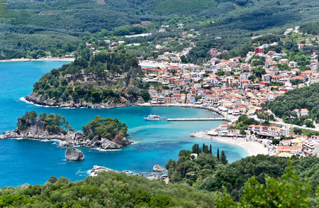 Parga town Greece photo