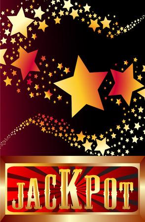 Jackpot étoiles filantes illustration Banque d'images - 30540069