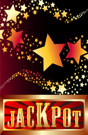 jackpot shooting stars illustration Vector