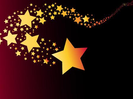 shooting star comet abstract light christmas vector illustration Vector