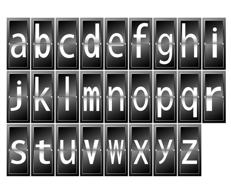 alphabet letters on time table  terminal vector illustration Vector