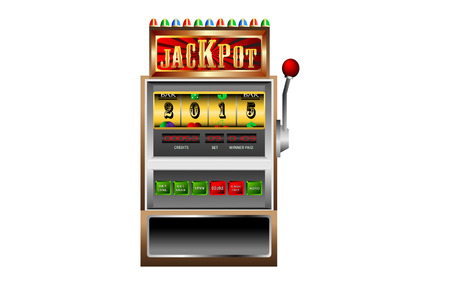 new year 2015 in slot machine vector illustration Vector