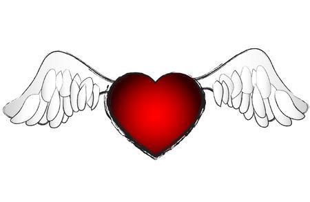 belonging: Valentines Day Heart vector illustration