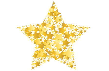 gold star vector illustration Illustration