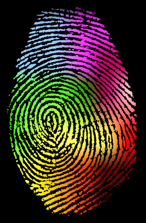 dactylogram: Fingerprint vector illustration Illustration