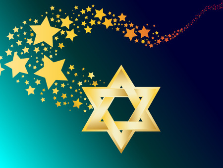 jewish star: hebrew Jewish Star of magen david vector illustration