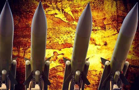 antiaircraft missiles abstract grunge dramatic photo Stock Photo