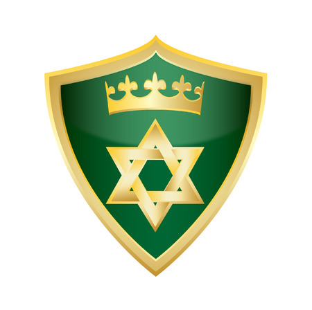 jewish star: hebrew Jewish Star of magen david shield vector illustration