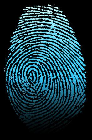 Ilustración vectorial de huellas dactilares Foto de archivo - 43865827