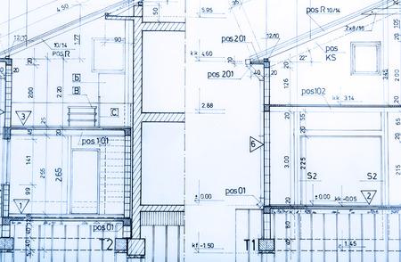 건축은 건축 계획 프로젝트 건축가의 청사진을 부동산 개념을 롤 스톡 콘텐츠