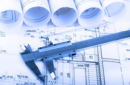 건축 롤 계획 건축 계획 프로젝트 건축가 청사진 부동산 개념