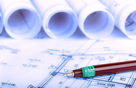 건설 업계 아키텍처 건축 계획 건축 계획 건축가 청사진 부동산 개념