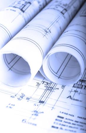 techical: Architecture rolls architectural techical plans project architect blueprints