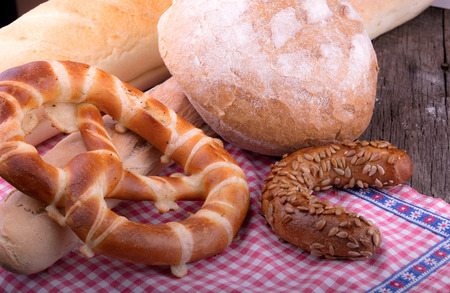 bakery products: baked goods bakery products Stock Photo