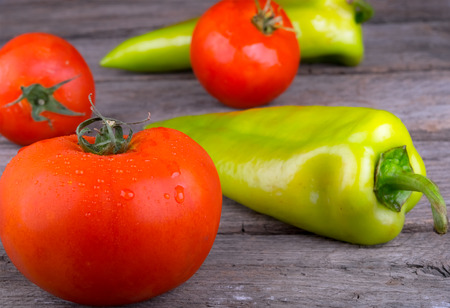 raw vegetables tomato and pepper
