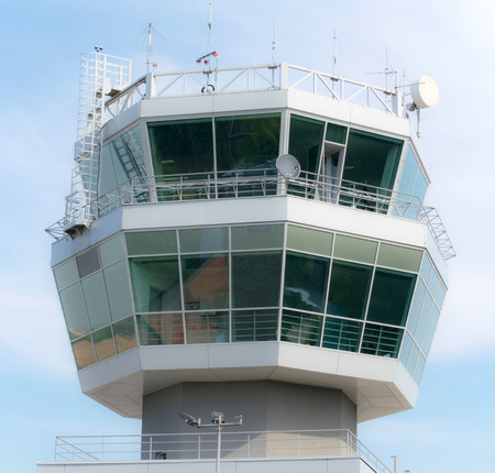 airport tower fly travel background