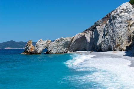 skiathos greece island lalaria beach 版權商用圖片