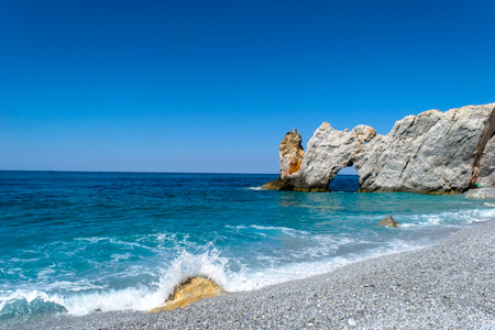 skiathos greece island lalaria beach 版權商用圖片