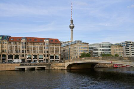 View of Berlin skyline with famous TV tower