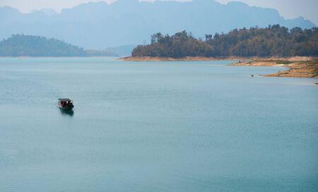 Thai passenger boat. Khao SOK national Park
