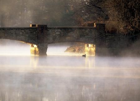 Misty Bridge Morning