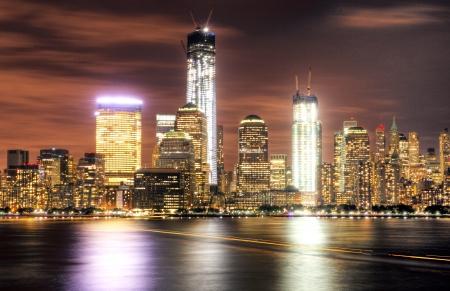 NYC Golden Skyline Stock Photo - 19679278