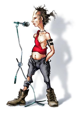 vocalist: vocalist Stock Photo