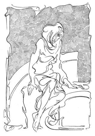illustrated: illustrated woman