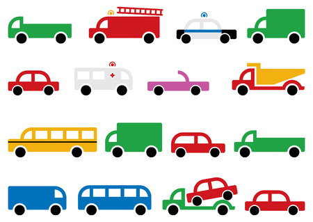 city transport equipment, symbols and design elements Vector