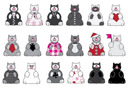 cats and any dress collection  Illustration