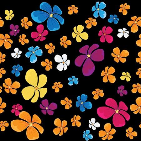 nahtlose Hintergrund mit fliegenden Blumen