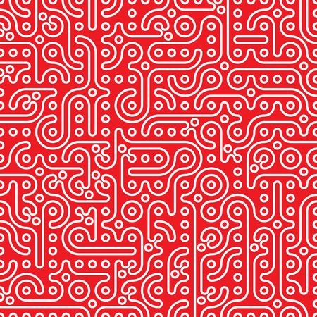 abstract seamless petroglyph background vector illustration Vector