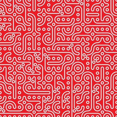 abstract seamless petroglyph Hintergrund Vektor-Illustration Illustration