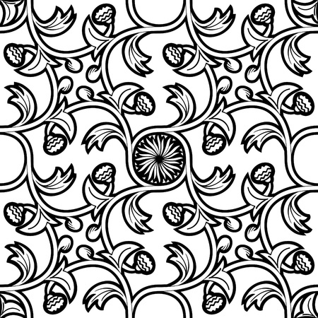 decorative pattern with medieval style tracery with floral elements Stock Vector - 10871203