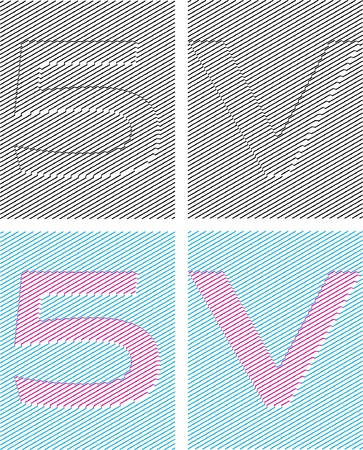 emboss: numeral characters emboss with assurer background. digit five Illustration